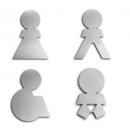 Türsymbol ethno aus Aluminium