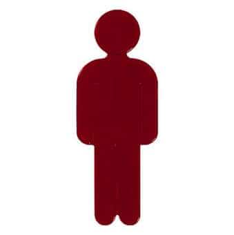 Türsymbol aus Nylon Herren | rot