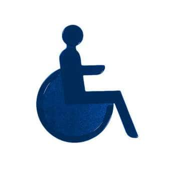 Türsymbol aus Nylon Rollstuhl   dunkelblau
