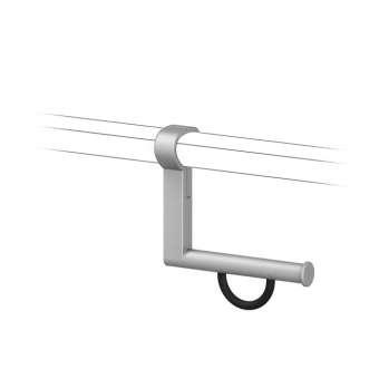 Cavere® Papierrollenhalter 120 für Winkelgriff Silber