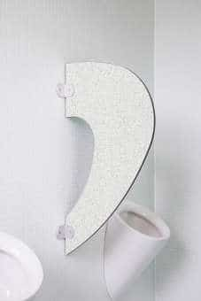 Designer Schamwand Imola im klassischen Stil granitweiß