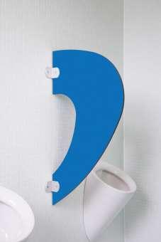 Designer Schamwand Imola in bunten Farben Pazifikblau