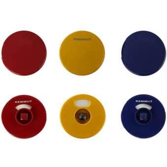 Türknopfgarnitur aus Nylon in bunten Farben gelb | 13mm | mit Schlossplatte