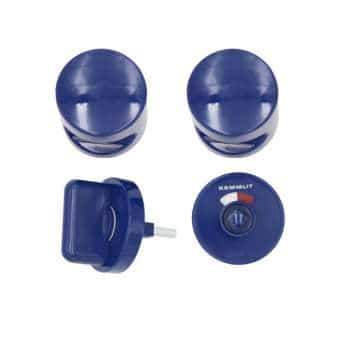Türknopfgarnitur aus Nylon in bunten Farben dunkelblau | 13mm | ohne Schlossplatte