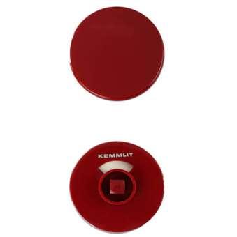 Türknopfgarnitur aus Nylon in bunten Farben rot | 13mm | ohne Schlossplatte