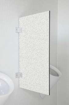Hochwertige Urinaltrennwand Modena Granitweiß