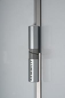 2-Rollen-Steigeband für selbstschließende Türen, links Aluminium eloxiert