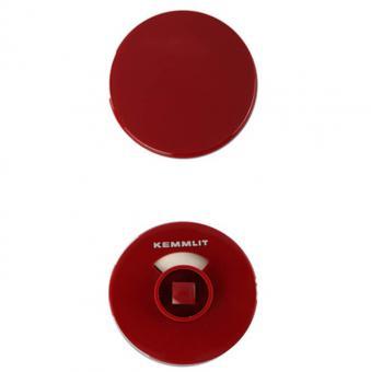 Türknopfgarnitur aus Nylon in bunten Farben rot   13mm   ohne Schlossplatte