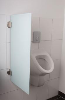 Exklusive Urinaltrennwand Siena aus ESG-Glas satinato