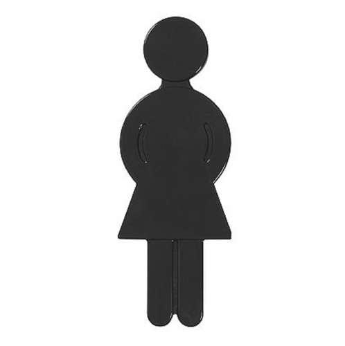 Türsymbol aus Nylon Damen | anthrazit