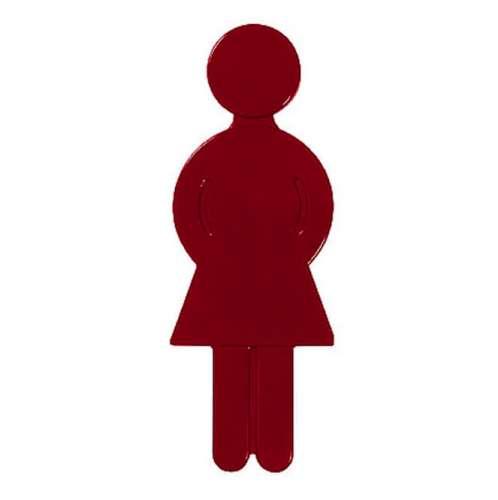 Türsymbol aus Nylon Damen | rot