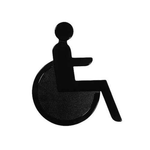 Türsymbol aus Nylon Rollstuhl | anthrazit