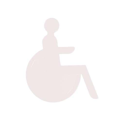 Türsymbol aus Nylon Rollstuhl | weiß
