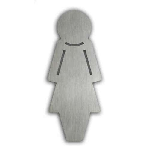 Türsymbol uno aus Edelstahl Damen