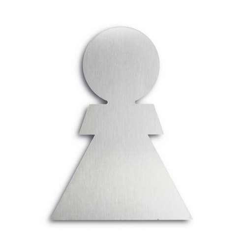 Türsymbol ethno aus Aluminium Damen