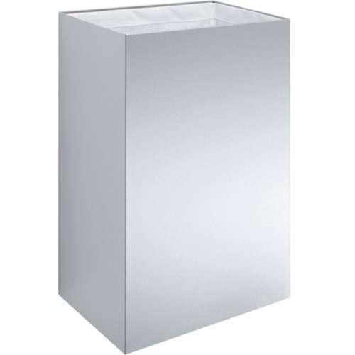 Design-Abfallbehälter groß aus Edelstahl
