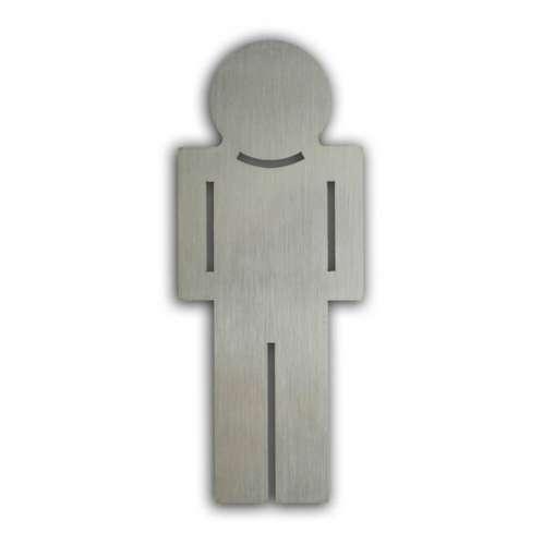 Türsymbol uno aus Edelstahl Herren