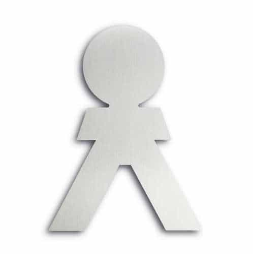 Türsymbol ethno aus Aluminium Herren