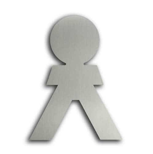 Türsymbol ethno aus Edelstahl Herren
