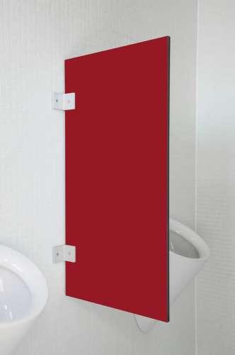Hochwertige Urinaltrennwand Messina in bunten Farben Granatrot