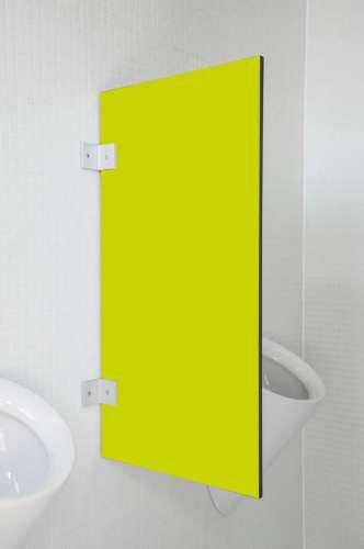 Hochwertige Urinaltrennwand Messina in bunten Farben Limonengrün
