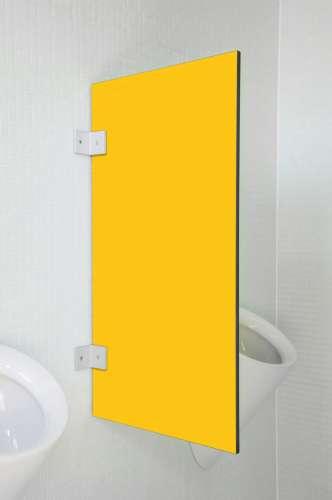 Hochwertige Urinaltrennwand Messina in bunten Farben Maisgelb