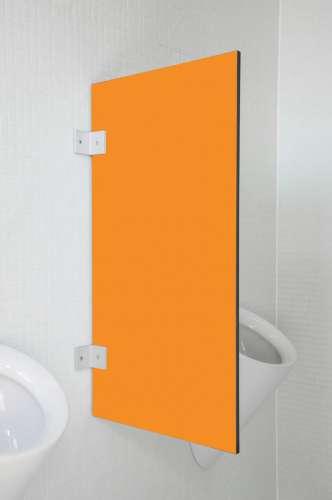 Hochwertige Urinaltrennwand Messina in bunten Farben Orange