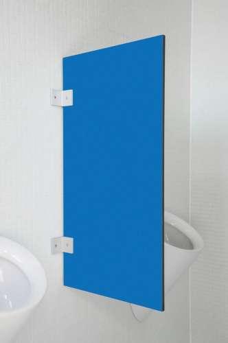 Hochwertige Urinaltrennwand Messina in bunten Farben Pazifikblau