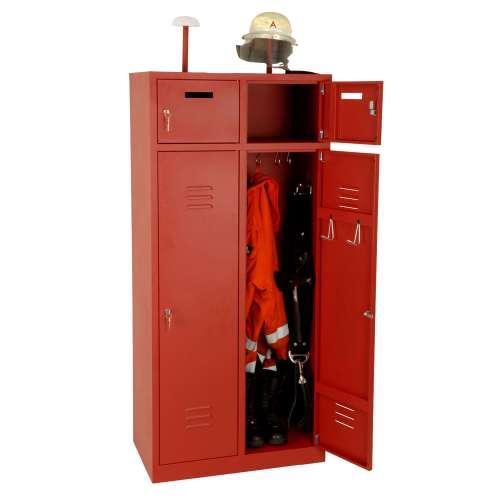 2-Fach Feuerwehrschrank Fresta mit Türen