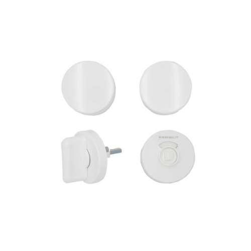 Türknopfgarnitur aus Nylon in klassischen Farben weiß | 30mm | mit Schlossplatte