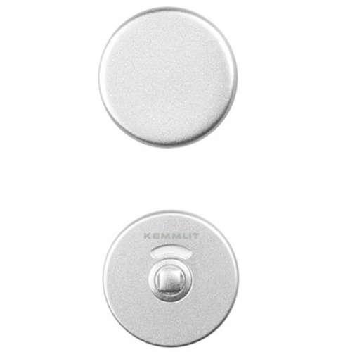Türknopfgarnitur aus Aluminium mit Schlossplatte & Schloss | 30mm