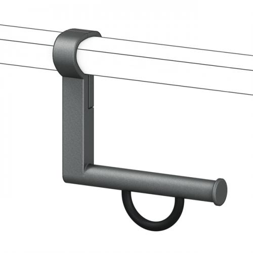 Cavere® Papierrollenhalter 120 für Winkelgriff Anthrazit