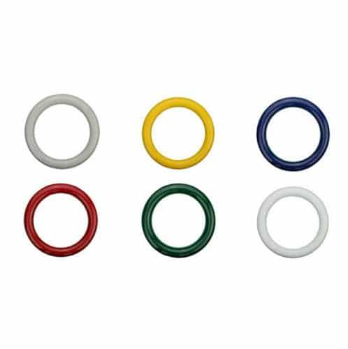 Sicherheitsringgriff aus Nylon in bunten Farben schwarz | 13mm
