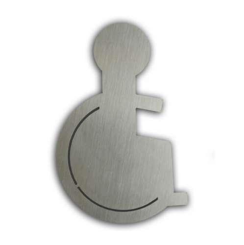 Türsymbol uno aus Edelstahl Rollstuhl