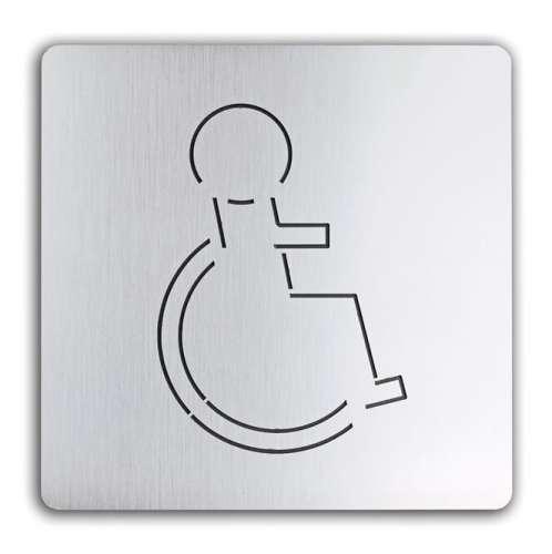 Türschild uno aus Aluminium Rollstuhl