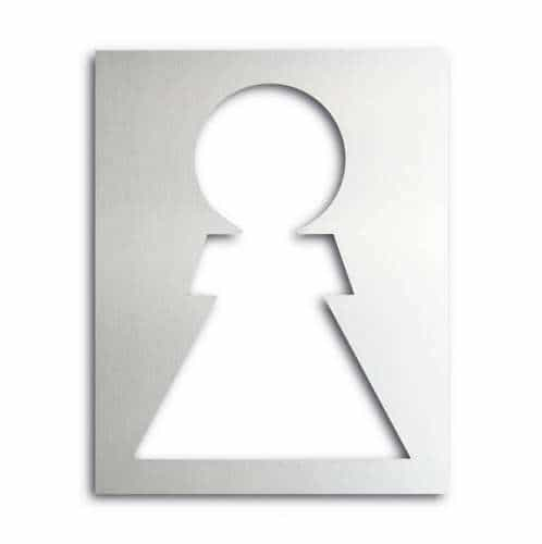 Türschild ethno aus Aluminium Damen