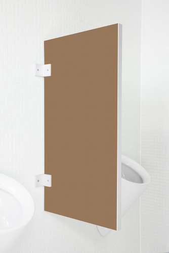 Standard Urinaltrennwand Novara aus Holzwerkstoff Buranobraun