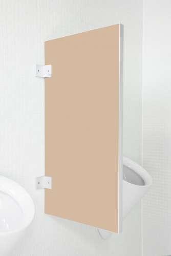 Standard Urinaltrennwand Novara aus Holzwerkstoff Cappuccino