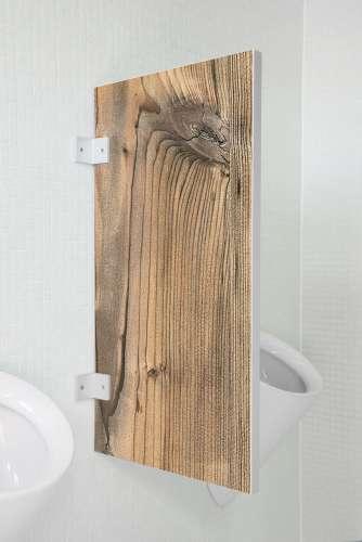 Nachhaltige Urinaltrennwand Bergamo Fichte rustikal