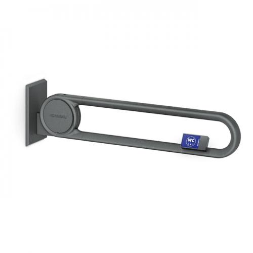 Cavere® Stützklappgriff vario mit Funksender Silber | 600mm