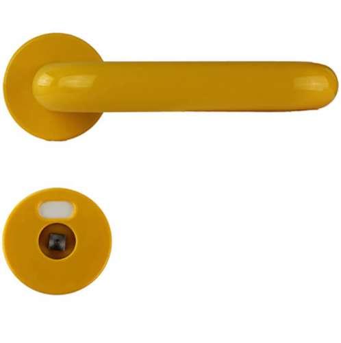 U-Drücker-Garnitur aus Nylon in bunten Farben gelb   30mm