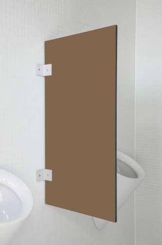 Hochwertige Urinaltrennwand Modena Buranobraun
