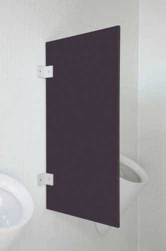 Hochwertige Urinaltrennwand Modena Graphit