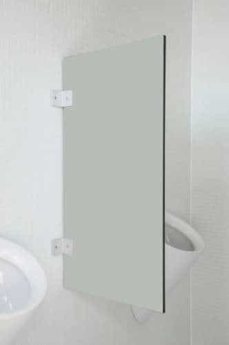 Hochwertige Urinaltrennwand Modena Hellgrau