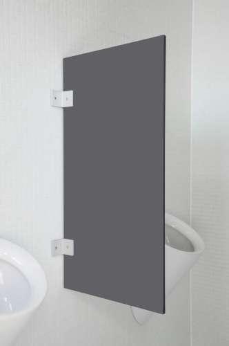Hochwertige Urinaltrennwand Modena Quarzgrau