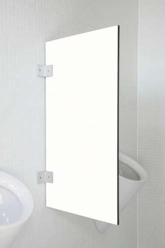 Hochwertige Urinaltrennwand Modena Verkehrsweiß
