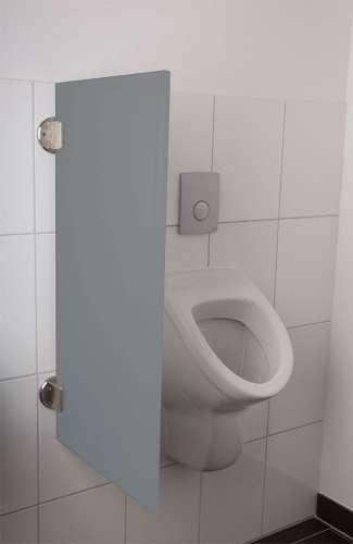 Exklusive Urinaltrennwand Siena aus ES-Glas hellgrau