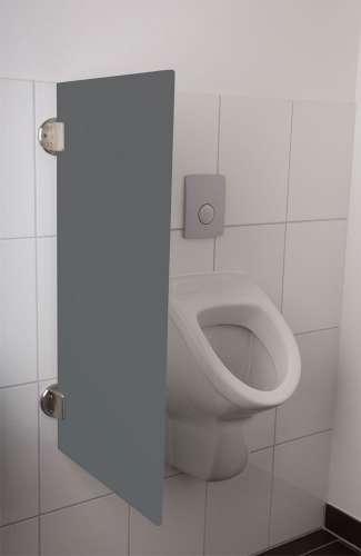Exklusive Urinaltrennwand Siena aus ES-Glas anthrazit