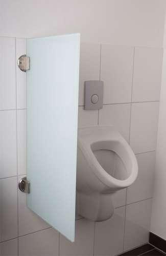 Exklusive Urinaltrennwand Siena aus ES-Glas satinato