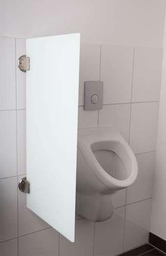 Exklusive Urinaltrennwand Siena aus ES-Glas weiß